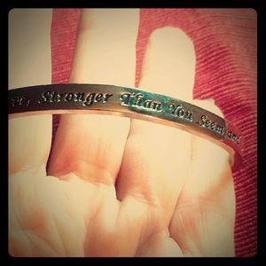 Jewelry - FINAL  PRICE! Inspirational Cuff Bracelet